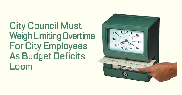 Limiting Overtime in the 2020-2021 Budget