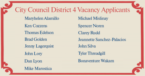 One of these people will be District 4's replacement