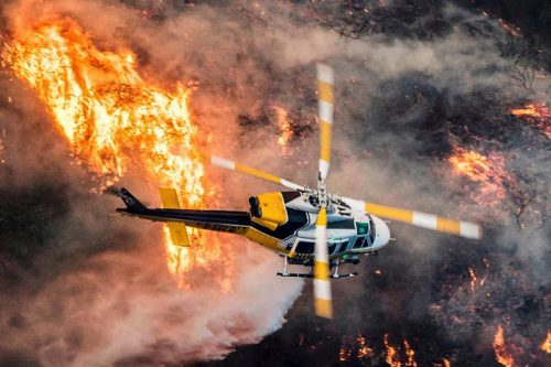 First-responders fight the Thomas Fire