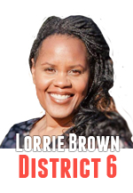 Lorrie Brown voted for an appointee replacement in District 4