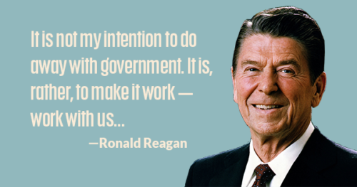 President Reagan on governing.